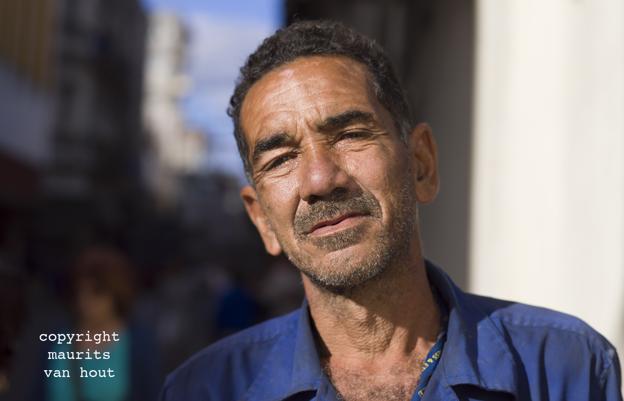 portrait of a man, Havana Cuba, by Dutch photographer Maurits van Hout