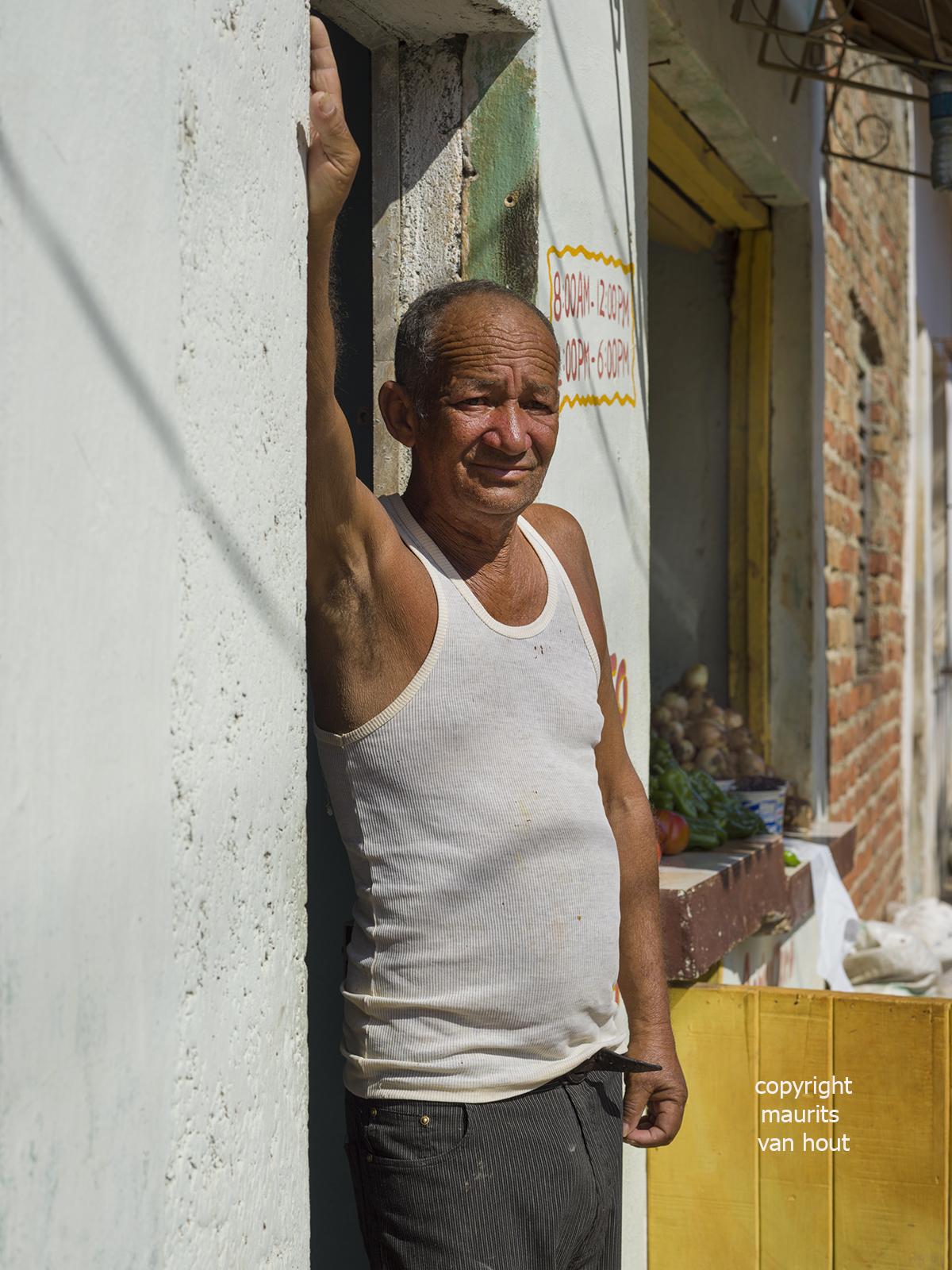 portrait of a man, Trinidad Cuba, by Dutch photographer Maurits van Hout