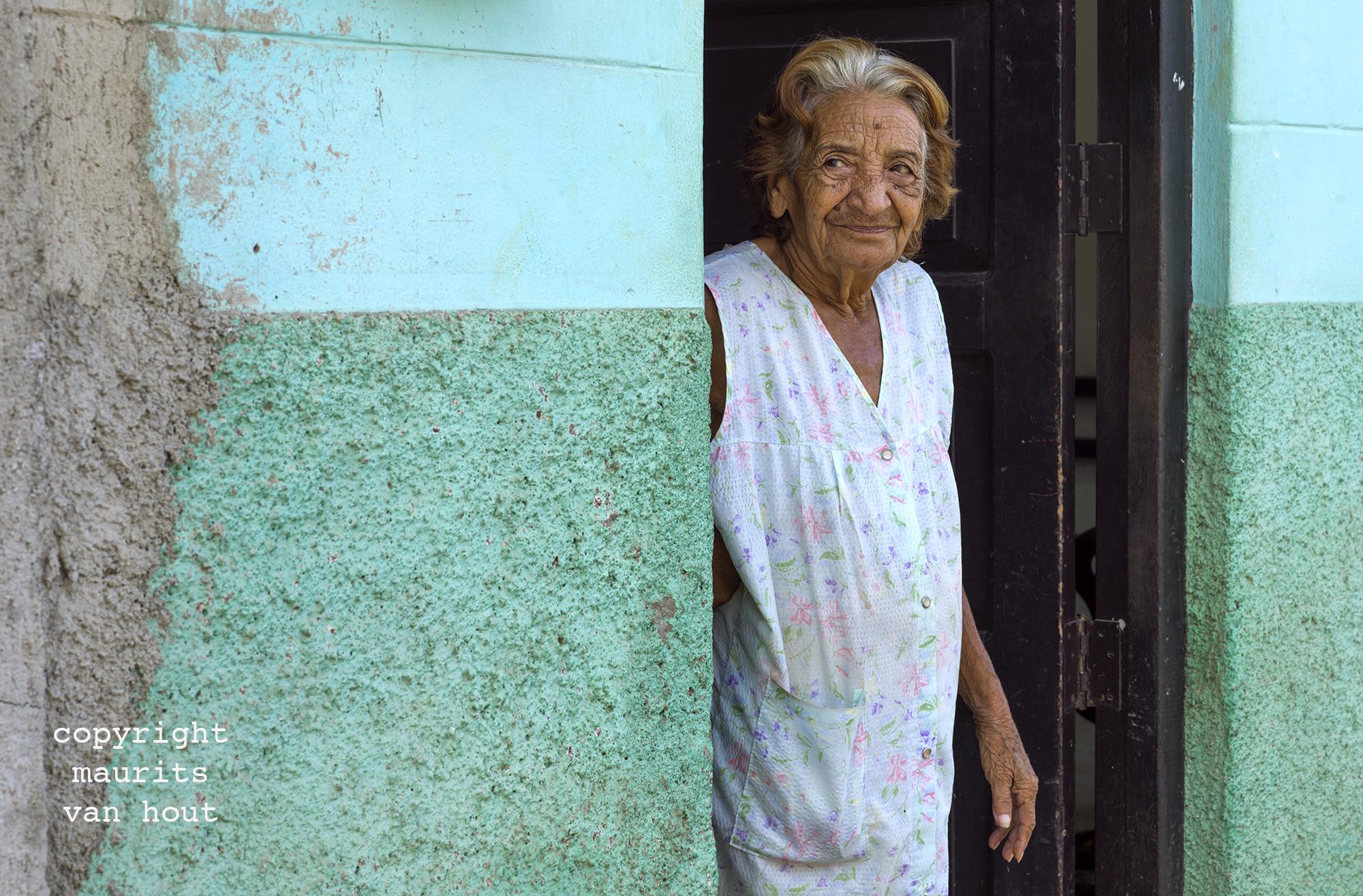 portrait of a woman, Trinidad Cuba, by Dutch photographer Maurits van Hout