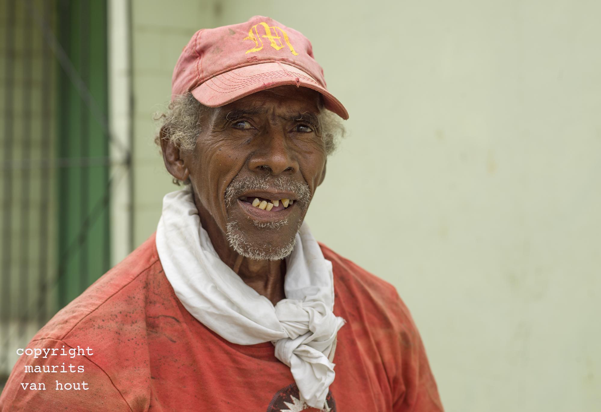 portrait of a man, Varadero Cuba, by Dutch photographer Maurits van Hout