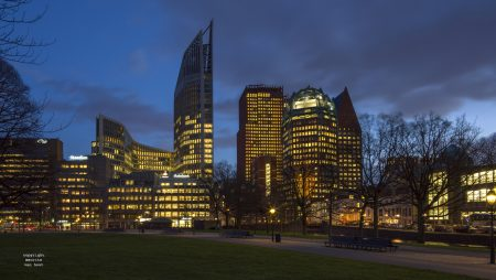 The Hague Skyline, by Dutch photographer Maurits van Hout