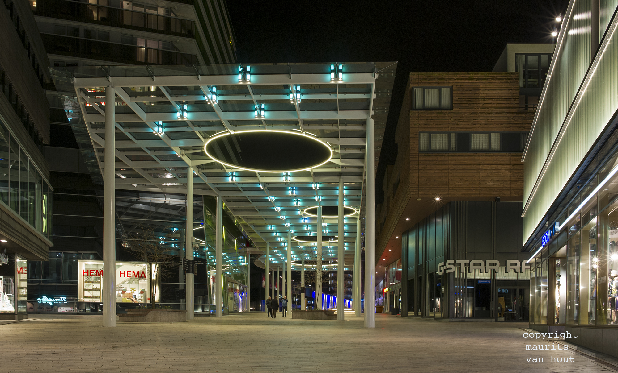 Almere city centre, architecture photography by Maurits van Hout