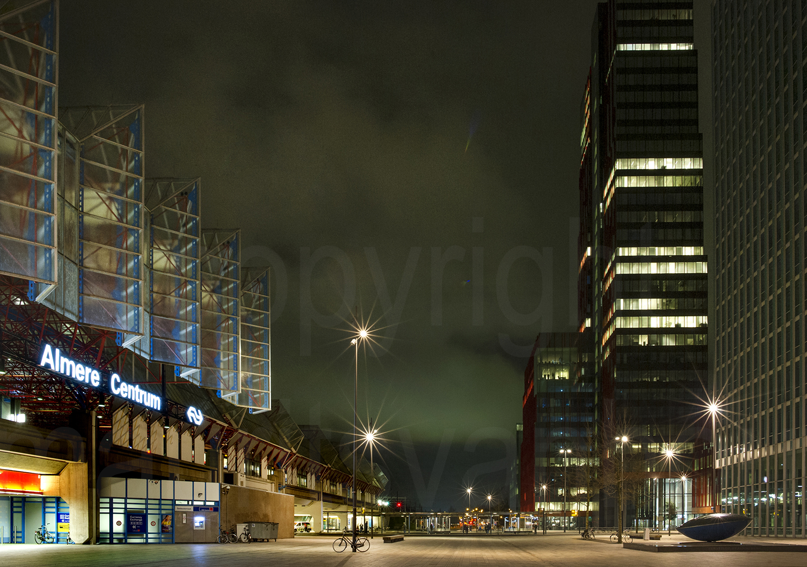 Almere city, evening