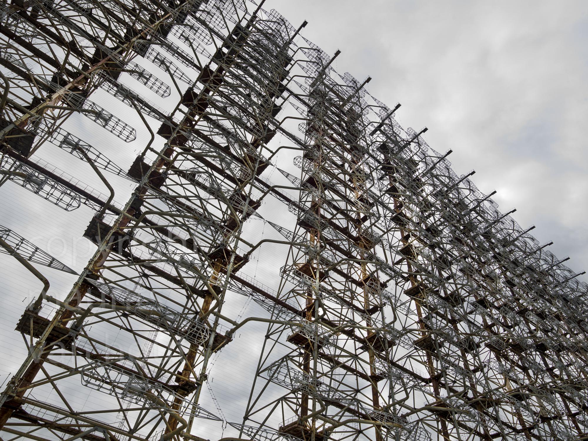 De Duga, een gigantische installatie gebouw tijdens de Koude Oorlog opgesteld in Tjernobyl2