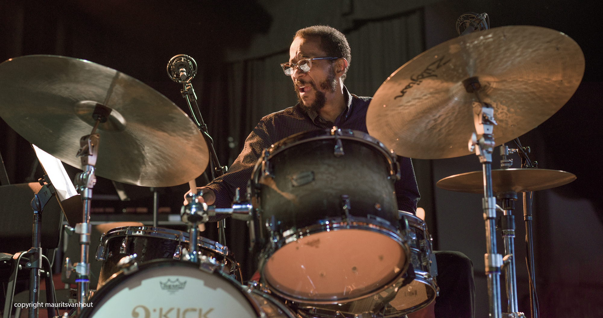 Wayne Shorter Quartet, Brian Blade live at Gent Jazz
