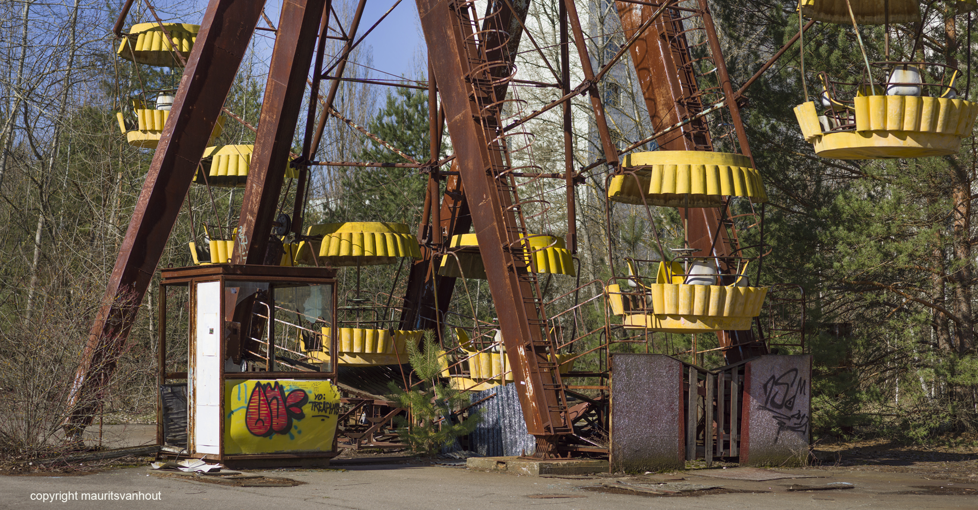 amusement park in the abandoned city of pripyat