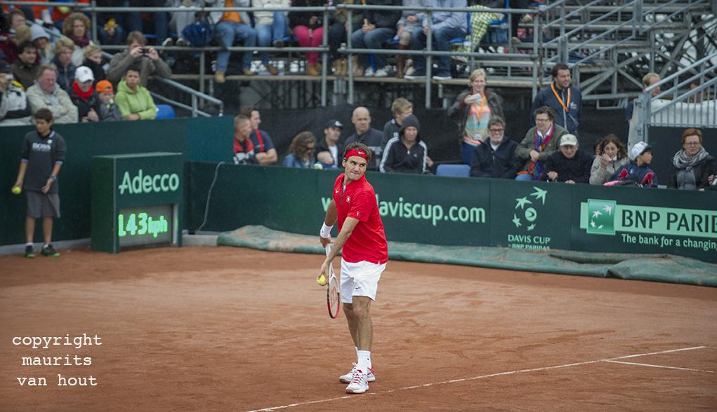 Roger Federer gefotografeerd door fotograaf Maurits van Hout uit Den Haag (Rijswijk)